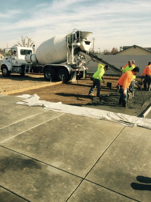 Cement Construction at Souza 12.20.15